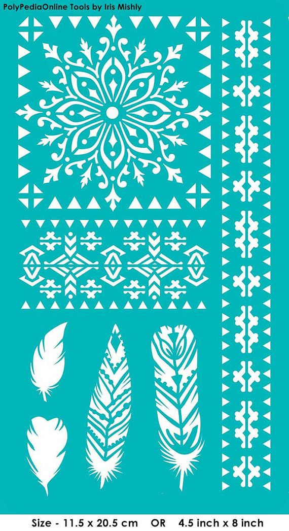 Stencil Stencils Pattern Template Reusable Adhesive by irismishly