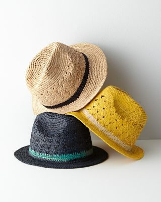 Mar Y Sol Avery Crocheted Fedora love in natural!