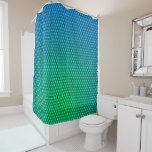 #simple - Abstract Green to Turquoise Shower Curtain