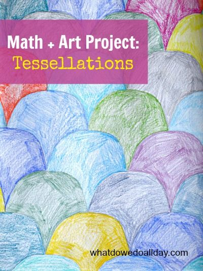 This is a fun way to combine math and art learning is one activity.
