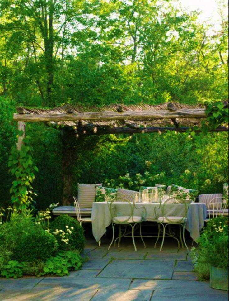 Garden dining huerto pinterest jard n terrazas y - Huerto y jardin ...