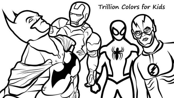 Ironman And Spiderman Coloring Pages | Batman coloring ...