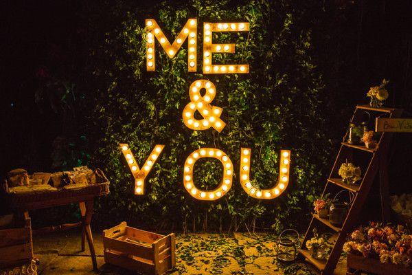 Letreiros para casamento: onde encontrar e como fazer