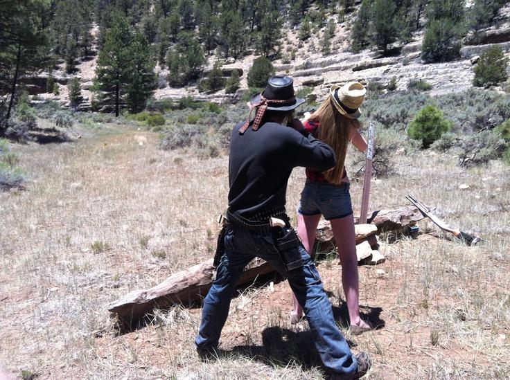 Firing guns in the Grand Canyon