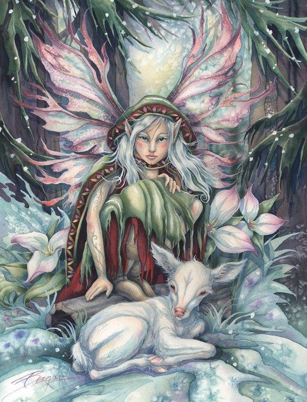 By Jody Bergsma Art Winter Fairy Artist Jody Bergsma