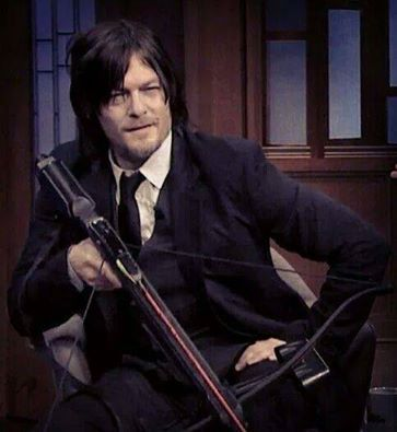 Norman said he would name is crossbow Marianne after his mom. Such a good boy. :)