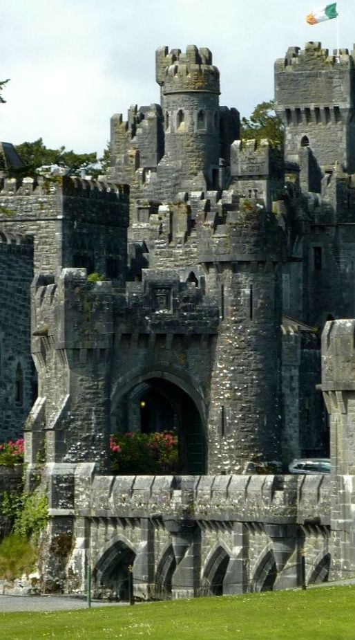 Gorgeous Ashford Castle, a medieval castle turned 5-star luxury hotel in Ireland.