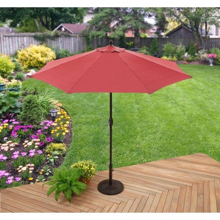 Garden Parasol Umbrella Sun Shade Structures Outdoor Patio Canopy Furniture Red #GardenParasolUmbrella #GardenUmbrella
