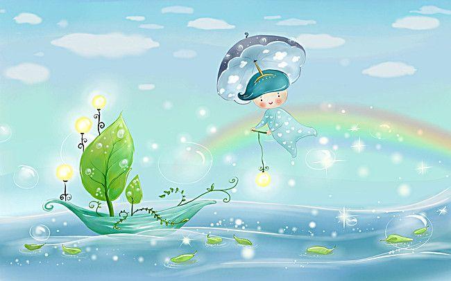 Cute Cartoon Elves Background Beautiful Landscape Wallpaper Cartoon Wallpaper Background Hd Wallpaper