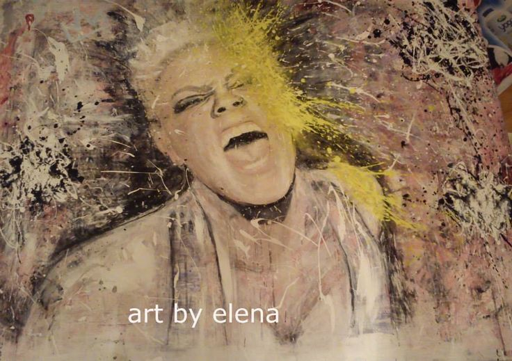 """Acrylic painting of """"PINK"""" , Art by Elena N"""
