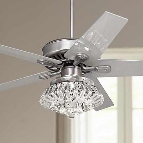 52 Quot Windstar Ii Steel Crystal Light Kit Ceiling Fan