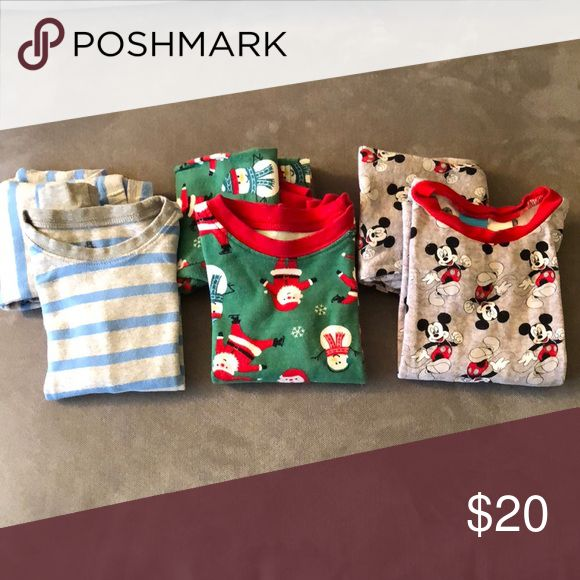 Little boys pajama sets Fits 3T. Petite Lem, Carter's and Disney little boy pajama sets. Good condition, no stains or holes. The Disney set marked as 4T but runs small Pajamas Pajama Sets