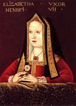 "Elizabeth of York - Daughter, wife, sister and mother of Kings. She was called, ""The Queen of Hearts"" and was the queen whose portrait was the inspiration for the Queen of Hearts in English card packs."