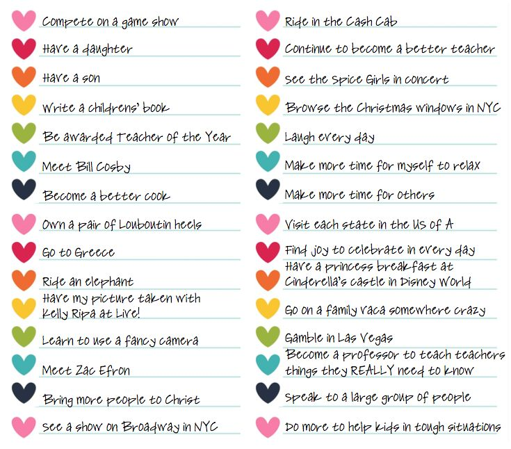 Printable Things To Do Lists: 30 Before 30 {and After}. Ideas For A Bucket List. Plus A