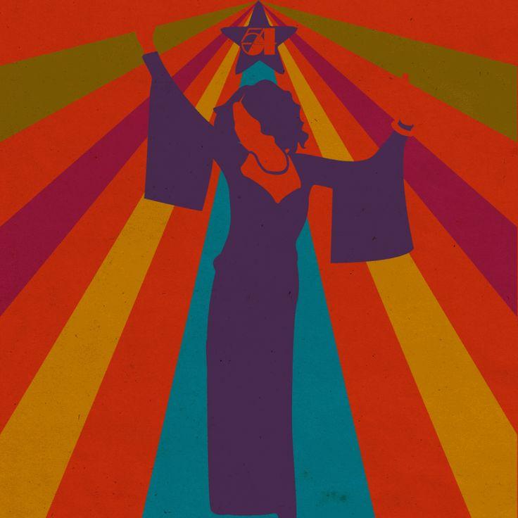 The Dancing Queen • Vilma Rae    Designed by Nefeli Tsalta    #disco #studio54 #glam #illusion #70s #vintage #retro #illustration #gif #digitalillustration #minimalillustration #graphicdesign #1970s #1960s #60s #1980s #80s #colors #lights #psychedelic #gif #popart #Illustrator #design