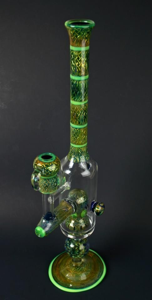 Stoke Glass, Dominant Green - - Find thousands of pipes and other great supplies at wholesale and retail at www.P1PELINE.com