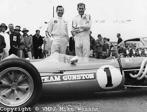 Repco Brabham 3-litre with drivers Sam Tingle and John Love, first ...