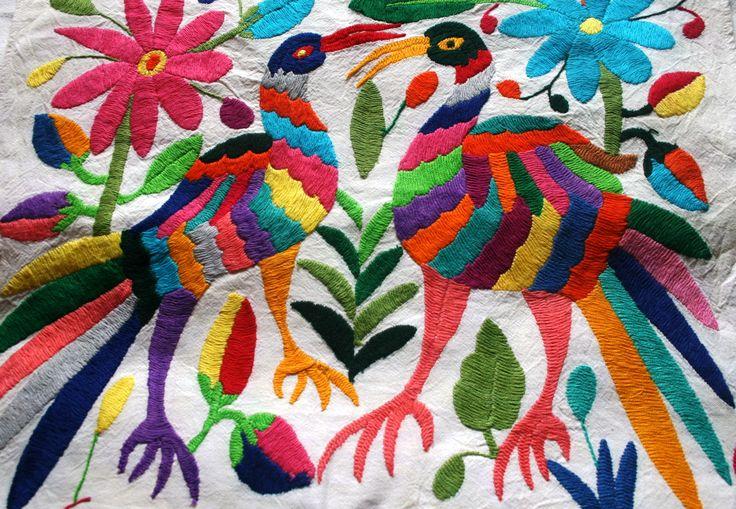 Tenango Birds Embroidered / Mexico