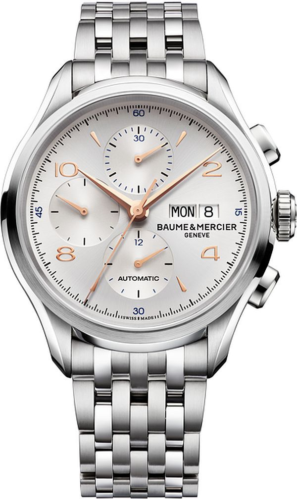 Baume & Mercier Clifton Chronograph Watches For 2014 - Steel Bracelet
