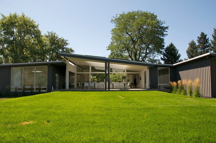 Mid century modern exterior midcentury designing tips with floor to ceiling window shed roof