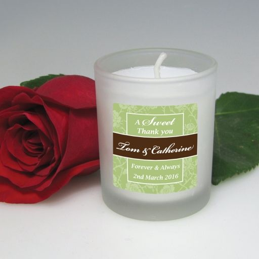Votive Candle with Personalised Label