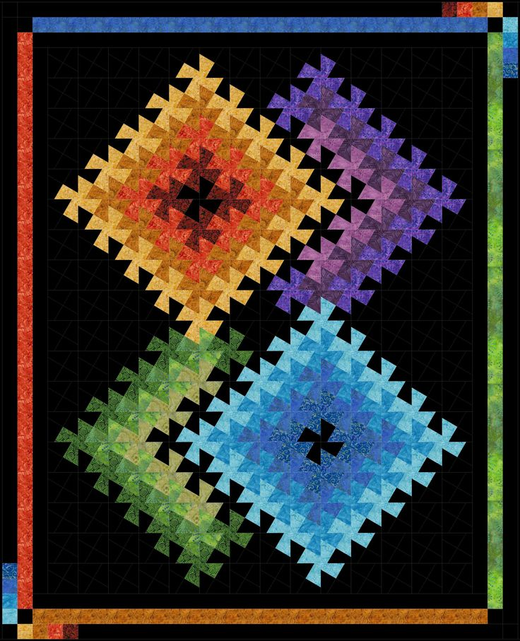 twister illusion lil'twister quilt
