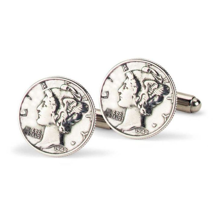 Mercury Dime Cufflinks by Tokens & Icons from Allen Edmonds web store