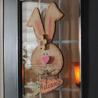 Wooden Girl Bunny Welcome Plaque | Kirkland's