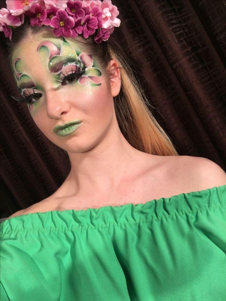Tavaszi hangulat, fantázia smink, fantasy makeup, artistic makeup