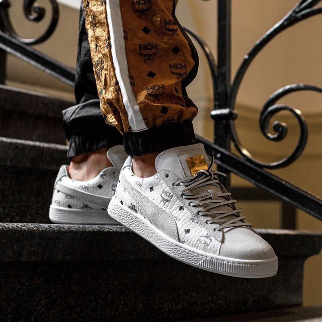 41 Puma x MCM Suede Classic Sneakers White | MCM