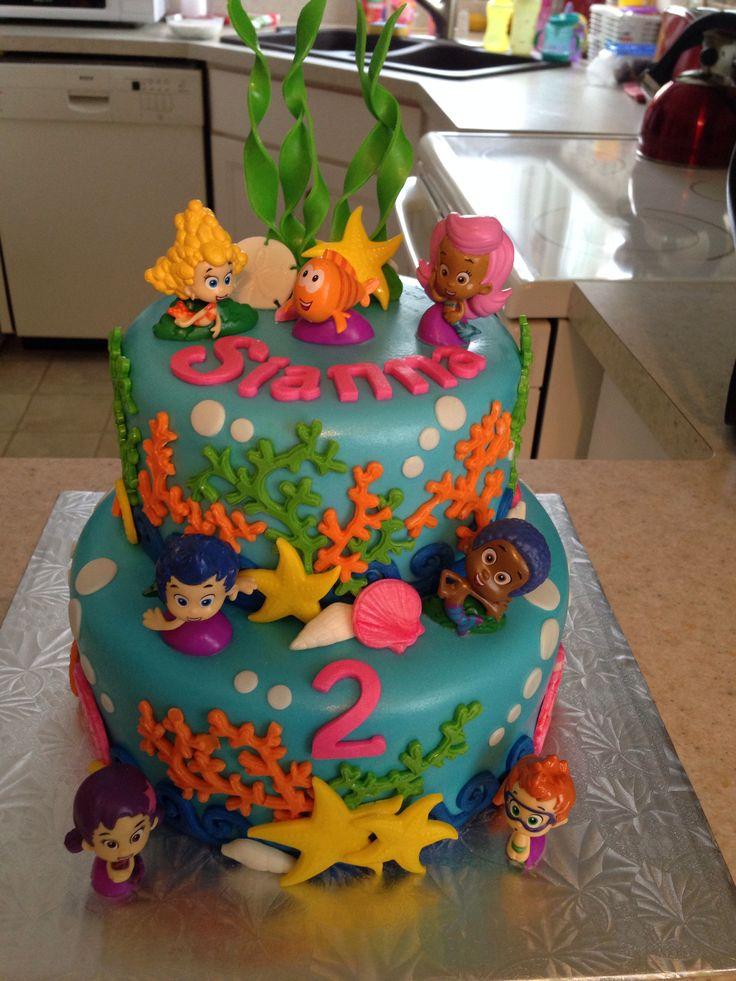 Bubble guppie birthday cake