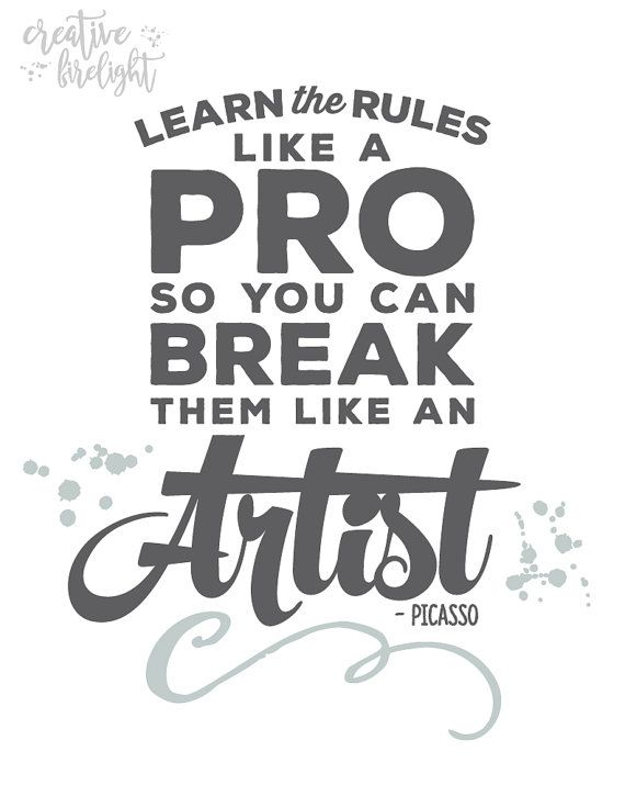 Picasso Quote  Printable Wall Art Instant by CreativeFirelight