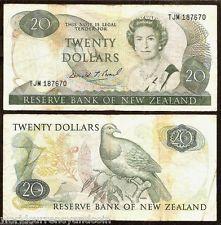 NEW ZEALAND $20 P173C 1989-1992 BRASH BIRD FLOWER QUEEN CURRENCY MONEY BANKNOTE