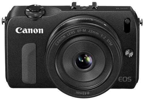 Canon EOS M Noir + Obj. EF-M STM 22 mm f/2.0 - livré avec le Flash externe Speedlite 90EX et la bague d'adaptation EF-EOS M