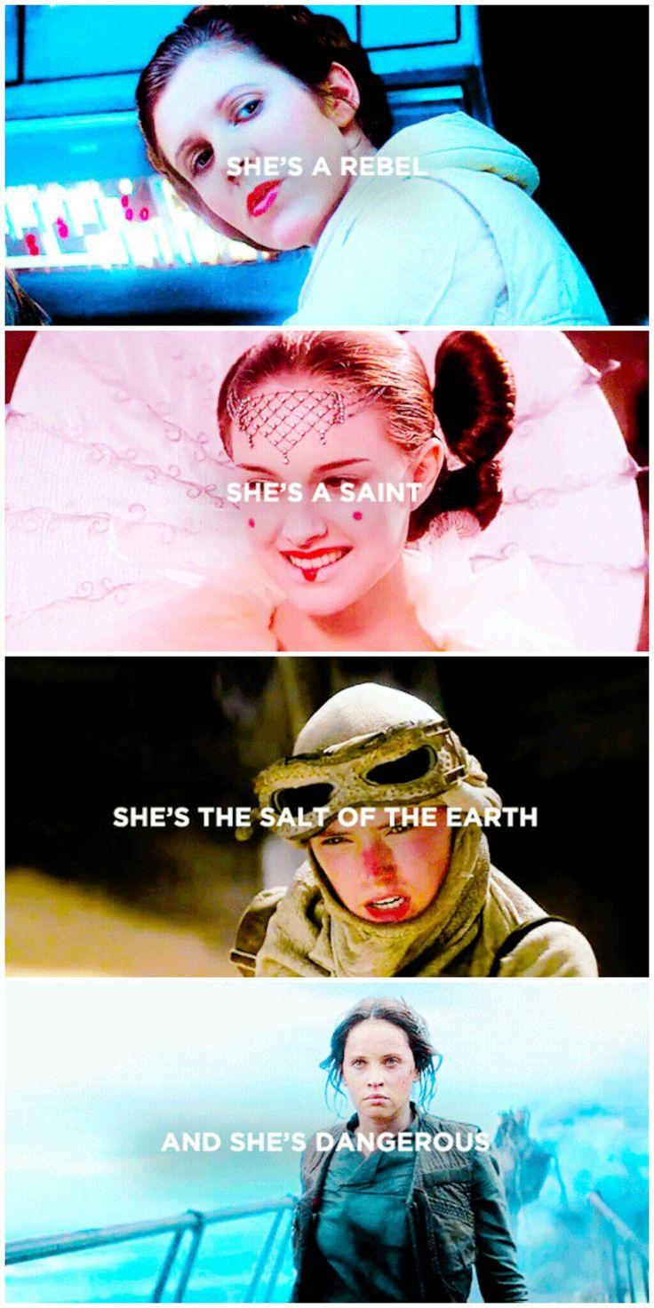 """The salt of the earth""  you mean a Rey of sunshine sent to balance the force"