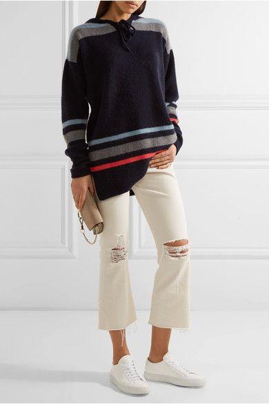 The Elder Statesman | Heavy Hockey hooded striped cashmere sweater | NET-A-PORTER.COM