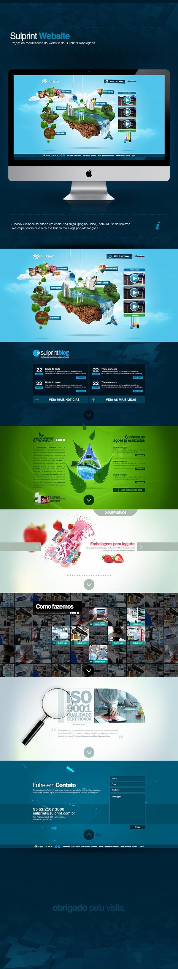 Website Sulprint Embalagens by Max Silva, via Behance