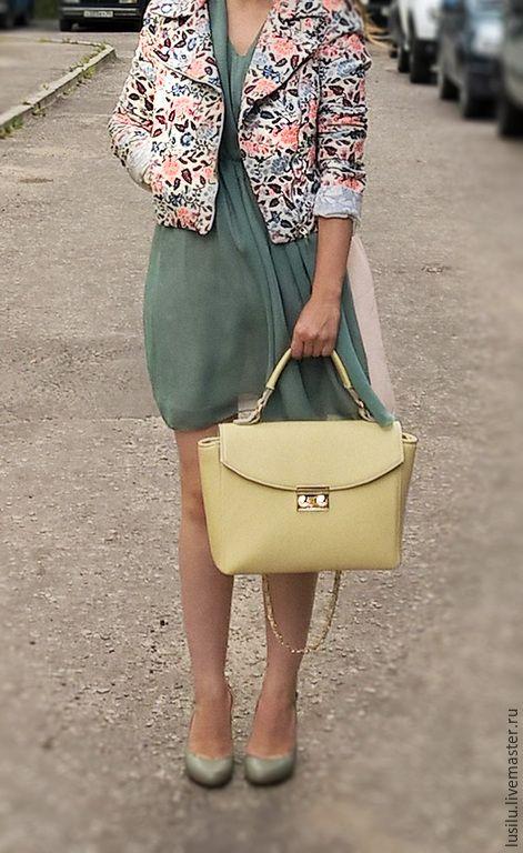 Купить Женская кожаная сумка - сумка из кожи, Кожаная сумка, сумка весна лето 2015