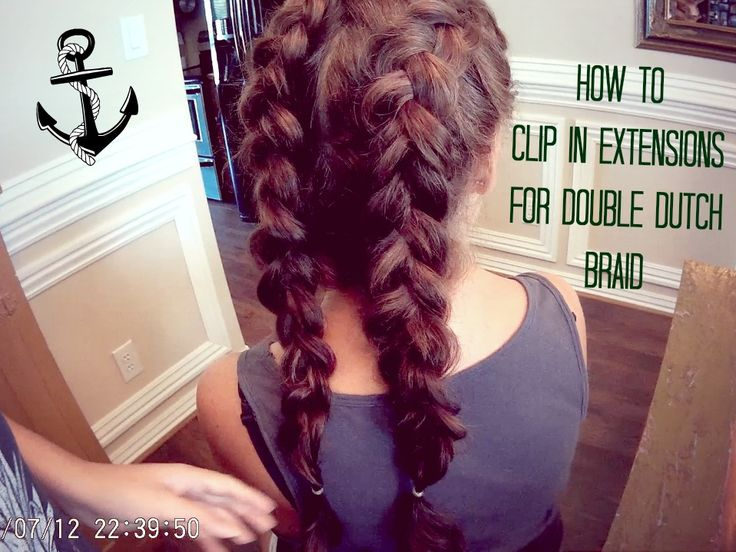 How to Clip in Extensions (Luxy Hair extension) for a Double Dutch Braid! How to do a double dutch braid https://www.youtube.com/watch?v=n0ugct-PCJ0