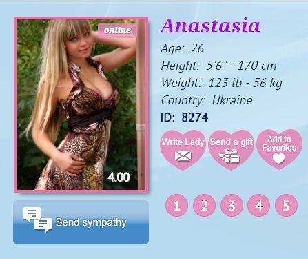 Ukrainian bride Anastasia looking for man online : hearts-in-love.com