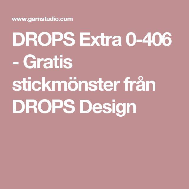 DROPS Extra 0-406 - Gratis stickmönster från DROPS Design