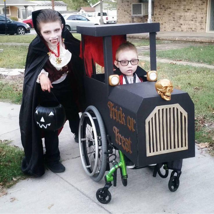 Wheelchair Halloween. Wheelchair Costume. Trick or Treat Train.