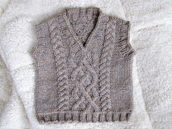 Little Man Vest Knitting Pattern PDF by EileenCaseyCreations, $4.00