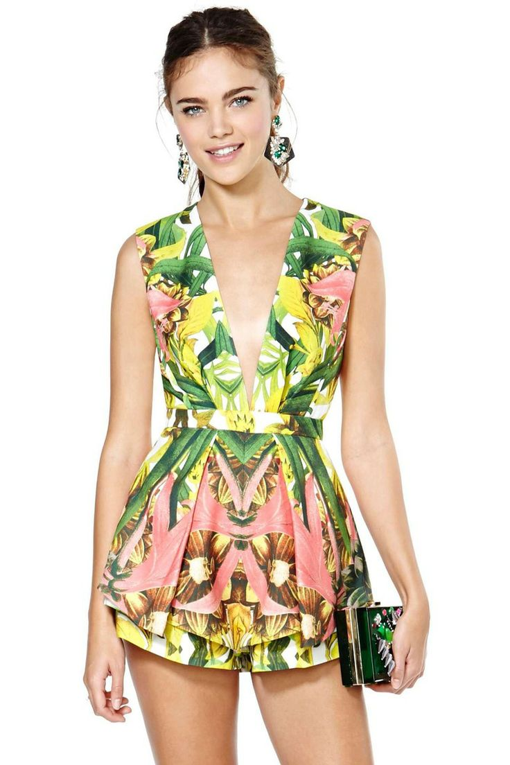 """Nasty Gal  Finders Keepers Next in Line Playsuit   (^.^) Thanks, Pinterest Pinners, for stopping by, viewing, re-pinning,  following my boards.  Have a beautiful day! ^..^ and """"Feel free to share on Pinterest ^..^ #fashion   #fashionupdates"""