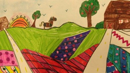"Artsonia Art Museum :: Artwork by Hailey6857 (my granddaughter) From exhibit ""Appalachian Landscapes"" by Hailey6857 (Art ID #31530040)  from Lincoln Elementary— grade 4"