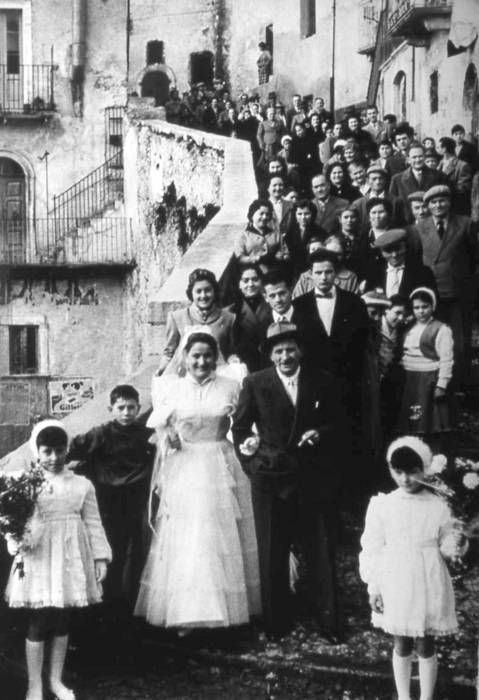 Italian Vintage Photographs ~ City of Roccacasale: Marriage