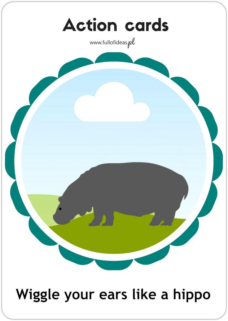 Head Full of Ideas   angielski dla dzieci, blog dla nauczycieli: Action cards printables