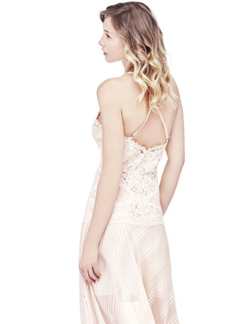 MARCIANO DRESS WITH LACE INSERTS   GUESS.eu