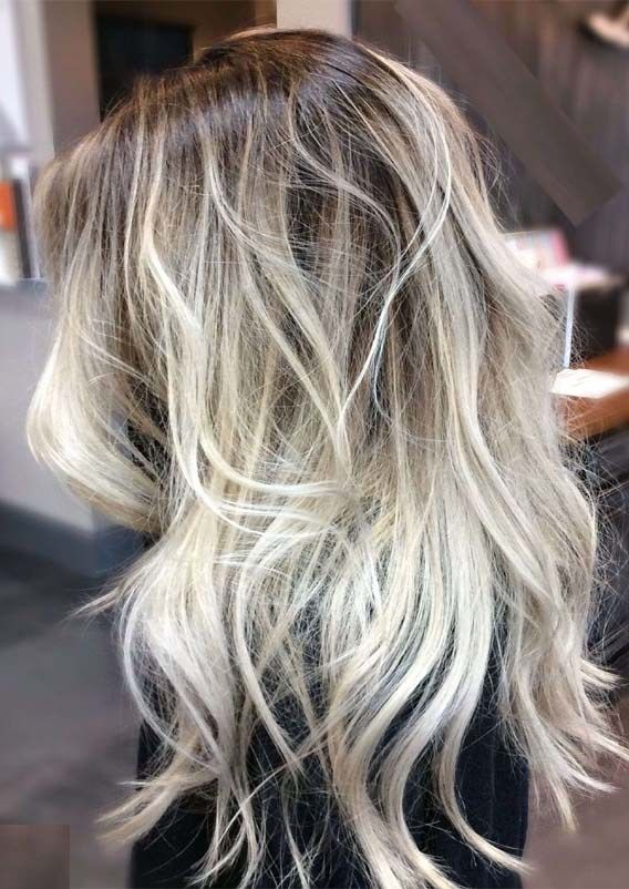 Fantastic Ashy Blonde Hair Colors With Dark Roots In 2019 With