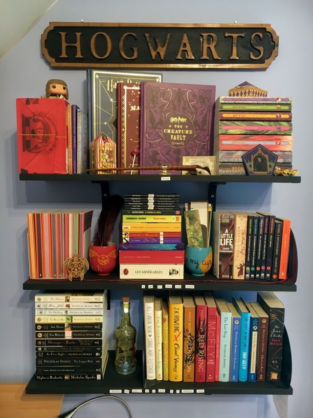 I'd need an entire shelf for Tolkien... And a shelf for Rowling, and a shelf for Jane Austen... So many shelves needed.
